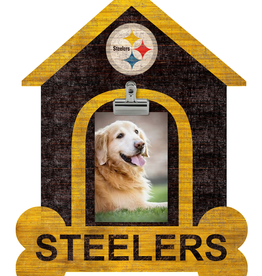 FAN CREATIONS Pittsburgh Steelers Dog House Photo Clip Frame