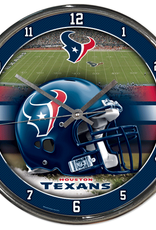 WINCRAFT Houston Texans Round Chrome Wall Clock
