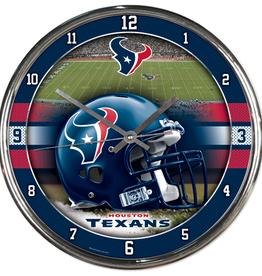 WINCRAFT Houston Texans Round Chrome Wall Clock