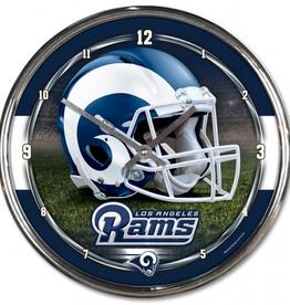 WINCRAFT Los Angeles Rams Round Chrome Wall Clock