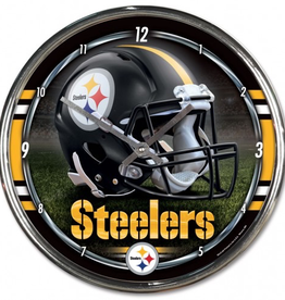 WINCRAFT Pittsburgh Steelers Round Chrome Wall Clock