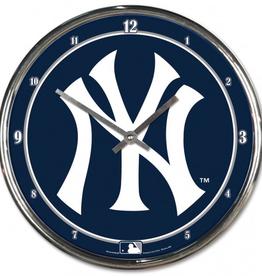 WINCRAFT New York Yankees Round Chrome Wall Clock