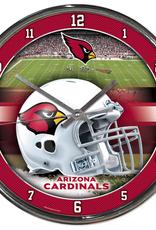 WINCRAFT Arizona Cardinals Round Chrome Wall Clock