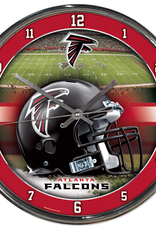 WINCRAFT Atlanta Falcons Round Chrome Wall Clock