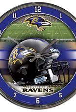 WINCRAFT Baltimore Ravens Round Chrome Wall Clock