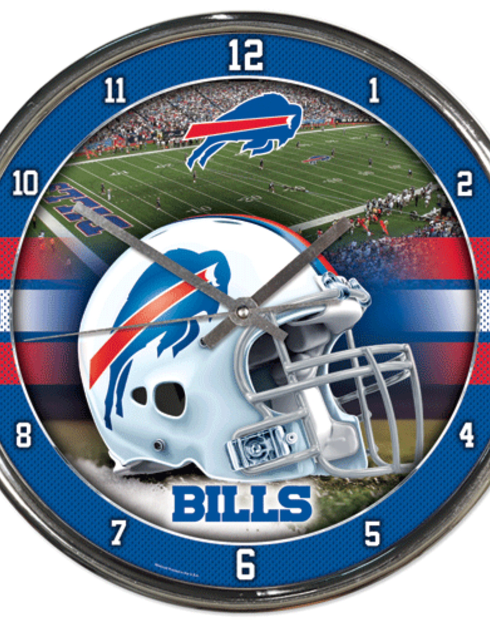 WINCRAFT Buffalo Bills Round Chrome Wall Clock