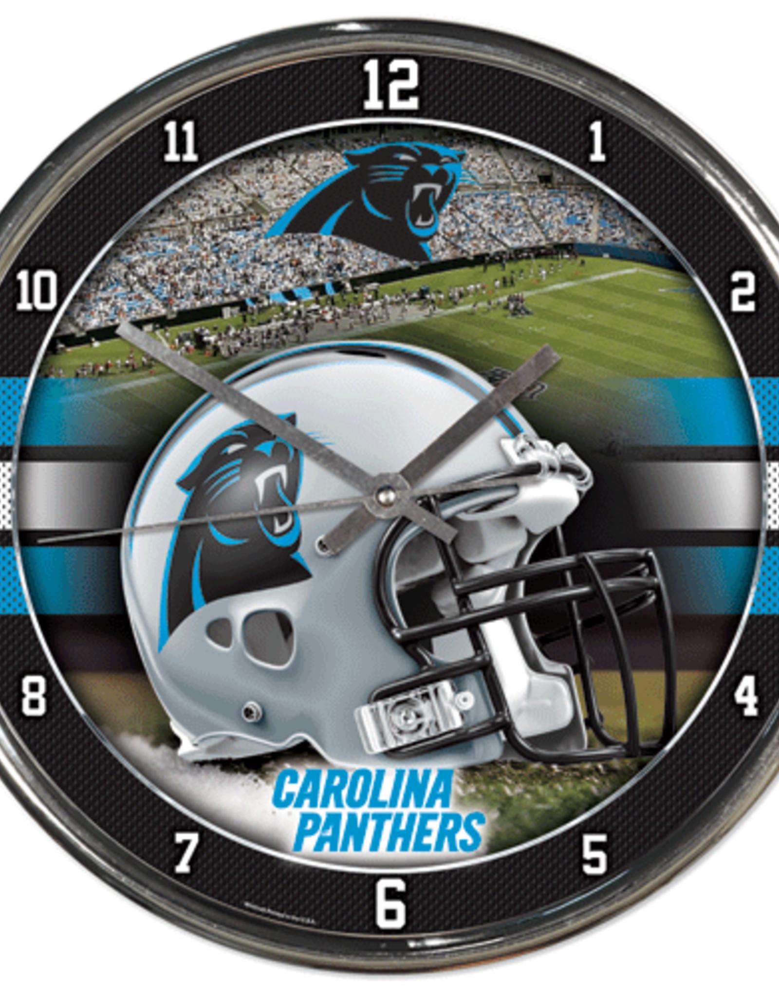 WINCRAFT Carolina Panthers Round Chrome Wall Clock