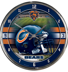 WINCRAFT Chicago Bears Round Chrome Wall Clock