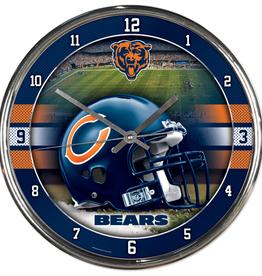 WINCRAFT Chicago Bears Round Chrome Wall Clock