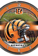 WINCRAFT Cincinnati Bengals Round Chrome Wall Clock