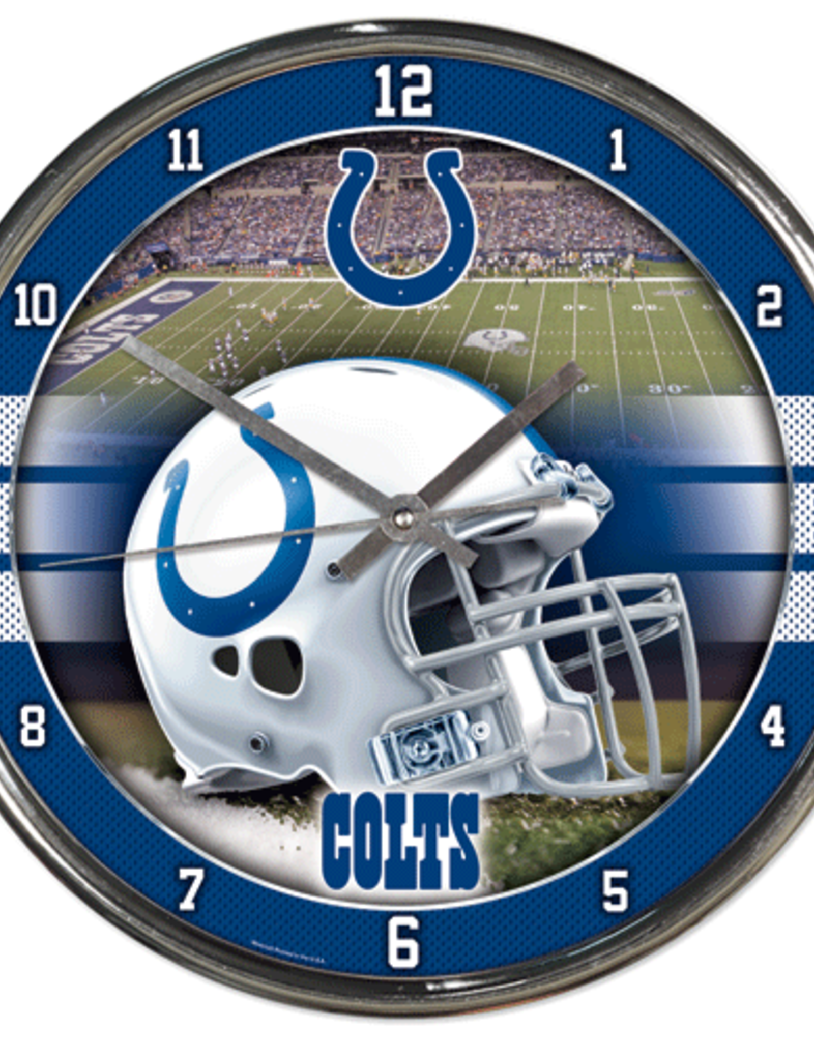 WINCRAFT Indianapolis Colts Round Chrome Wall Clock