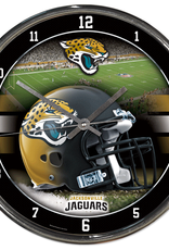 WINCRAFT Jacksonville Jaguars Round Chrome Wall Clock