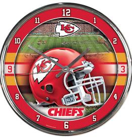 WINCRAFT Kansas City Chiefs Round Chrome Wall Clock
