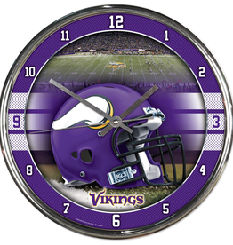 WINCRAFT Minnesota Vikings Round Chrome Wall Clock