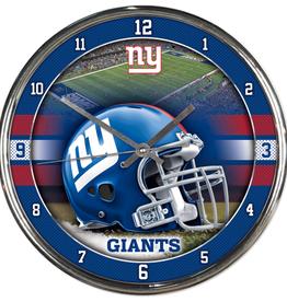 WINCRAFT New York Giants Round Chrome Wall Clock