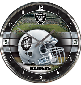 WINCRAFT Oakland Raiders Round Chrome Wall Clock