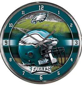 WINCRAFT Philadelphia Eagles Round Chrome Wall Clock