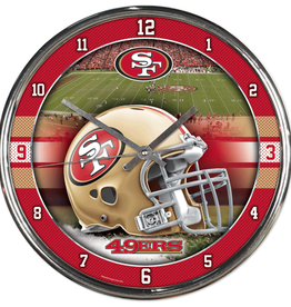 WINCRAFT San Francisco 49ers Round Chrome Wall Clock