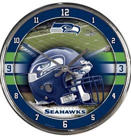 WINCRAFT Seattle Seahawks Round Chrome Wall Clock