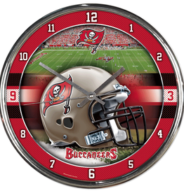 WINCRAFT Tampa Bay Buccaneers Round Chrome Wall Clock