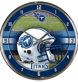 WINCRAFT Tennessee Titans Round Chrome Wall Clock