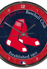 WINCRAFT Boston Red Sox Round Chrome Wall Clock