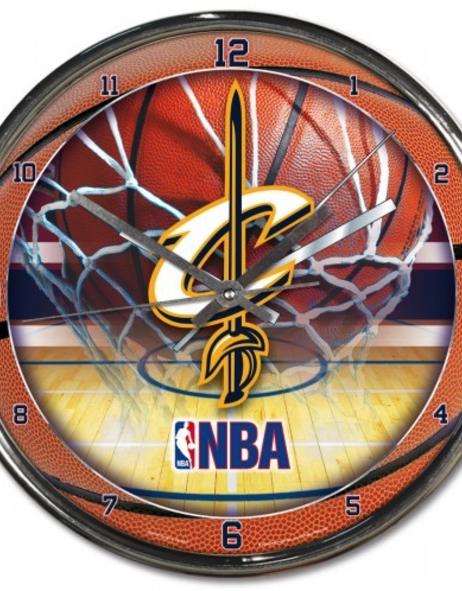WINCRAFT Cleveland Cavaliers Round Chrome Wall Clock