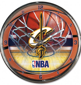 WINCRAFT Cleveland Cavaliers Round Chrome Wall Clock