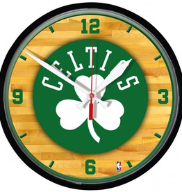 WINCRAFT Boston Celtics Round Chrome Wall Clock