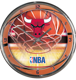 WINCRAFT Chicago Bulls Round Chrome Wall Clock