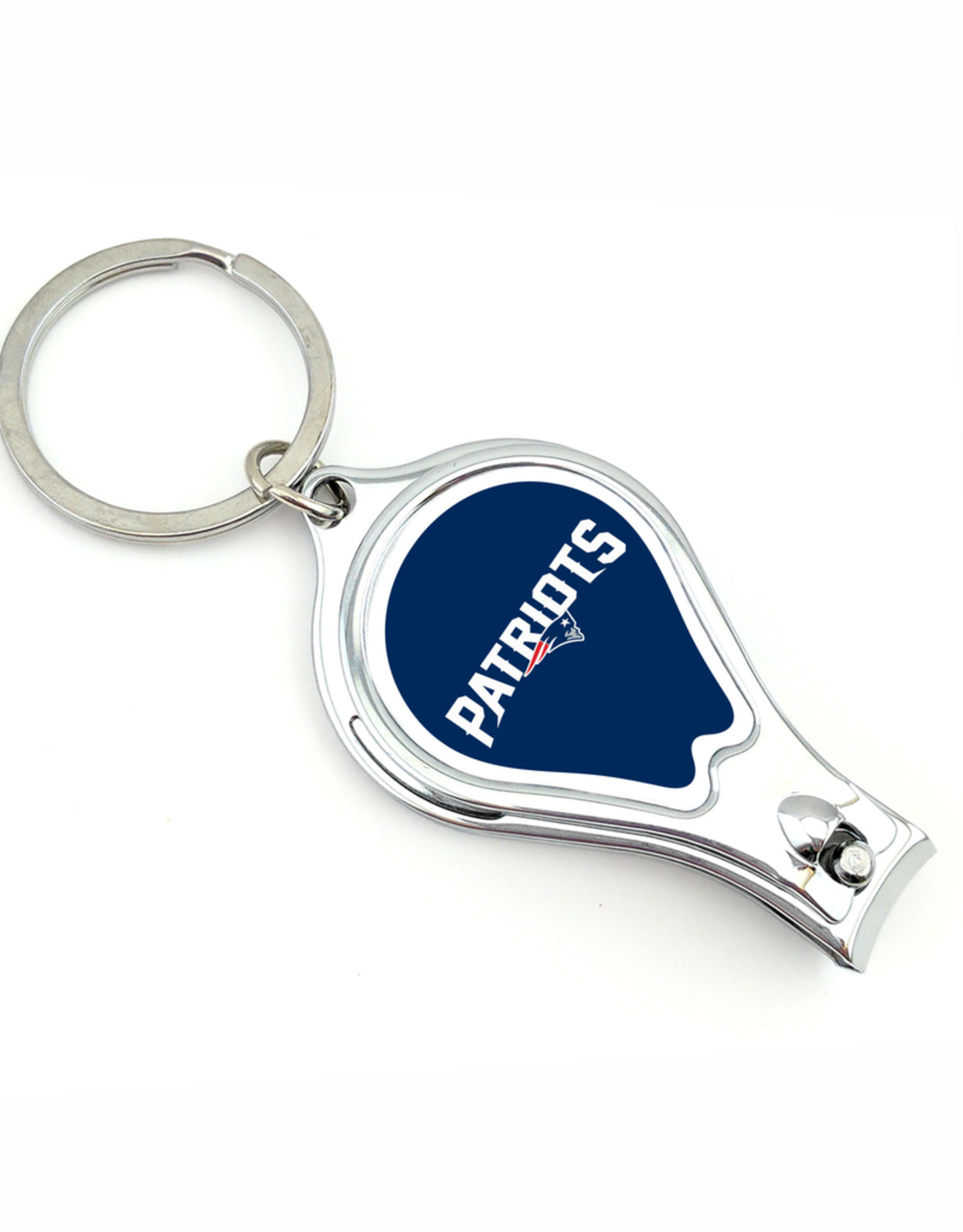 WORTHY PROMOTIONAL PRODUCTS New England Patriots Multi Function 3-in-1 Keyring