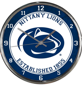 WINCRAFT Penn State Nittany Lions Round Chrome Wall Clock