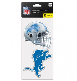 Detriot Lions Set of Two 4x4 Perfect Cut Decals
