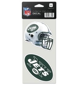 WINCRAFT New York Jets Set of Two 4x4 Perfect Cut Decals
