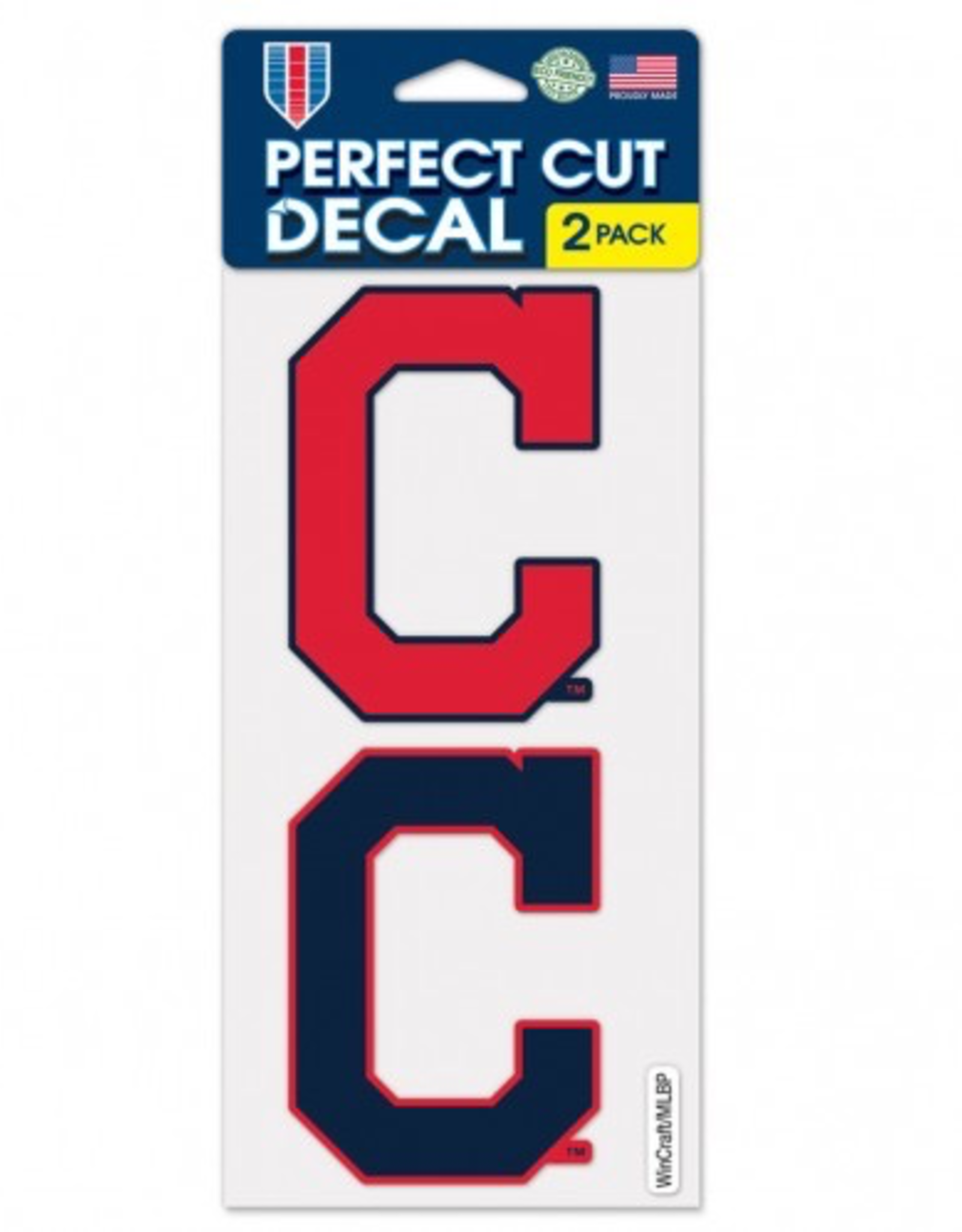 Cleveland Indians Set of Two 4x4 Perfect Cut Decals