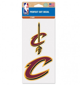 Cleveland Cavaliers LeBron James Set of Two 4x4 Perfect Cut Decals
