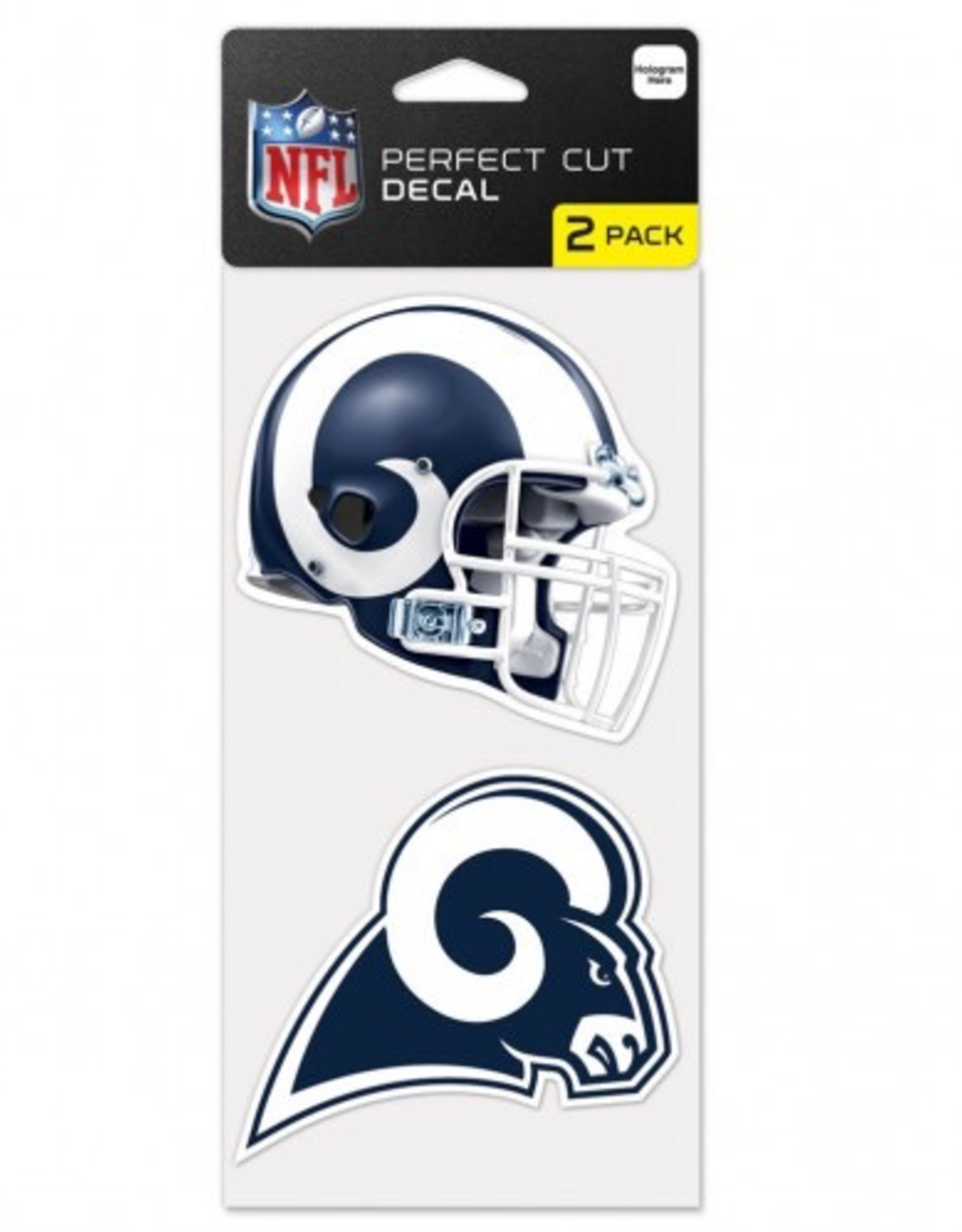 Los Angeles Rams Set of Two 4x4 Perfect Cut Decals