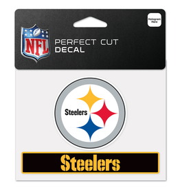 "WINCRAFT Pittsburgh Steelers 4.5"" x 5.75"" Perfect Cut Decals"