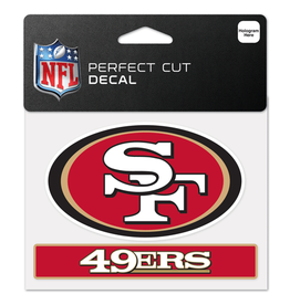 "WINCRAFT San Francisco 49ers 4.5"" x 5.75"" Perfect Cut Decals"