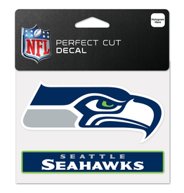 "WINCRAFT Seattle Seahawks 4.5"" x 5.75"" Perfect Cut Decals"