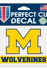 "WINCRAFT Michigan Wolverines 4.5"" x 5.75"" Perfect Cut Decals"