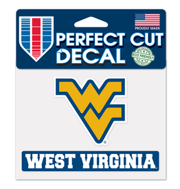 "WINCRAFT West Virginia Mountaineers 4.5"" x 5.75"" Perfect Cut Decals"