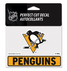 "WINCRAFT Pittsburgh Penguins 4.5"" x 5.75"" Perfect Cut Decals"