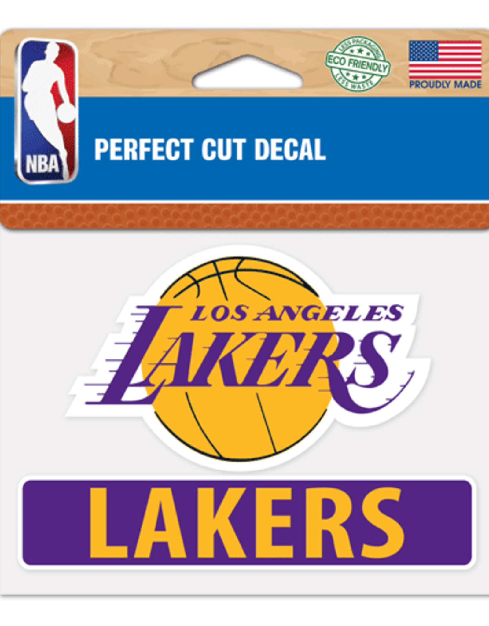 "WINCRAFT Los Angeles Lakers 4.5"" x 5.75"" Perfect Cut Decals"