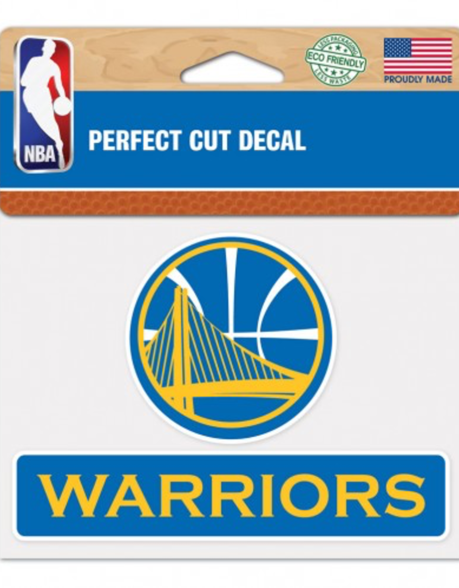 "WINCRAFT Golden State Warriors 4.5"" x 5.75"" Perfect Cut Decals"