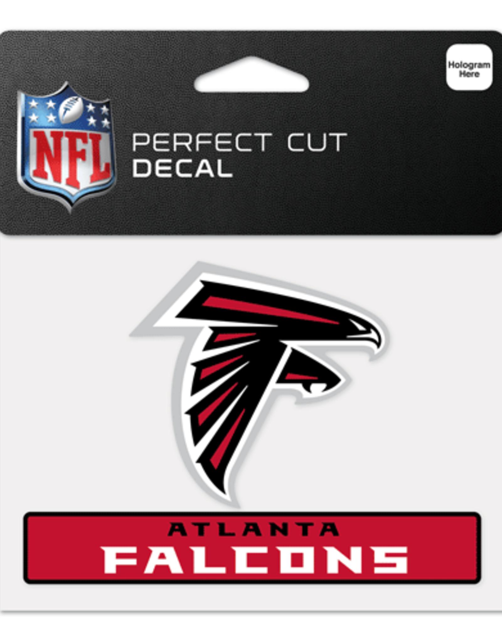"""WINCRAFT Atlanta Falcons 4.5"""" x 5.75"""" Perfect Cut Decals"""