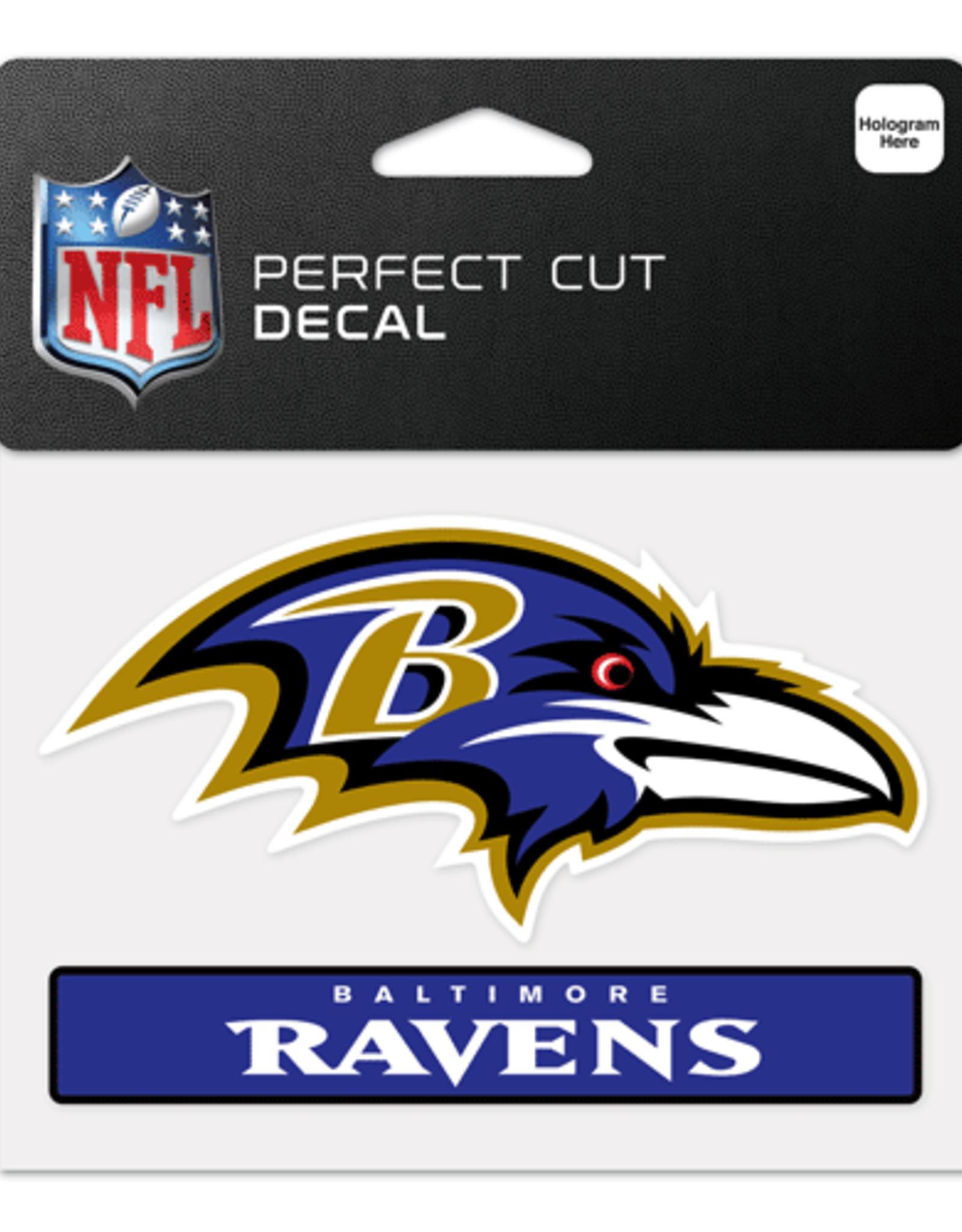 "WINCRAFT Baltimore Ravens 4.5"" x 5.75"" Perfect Cut Decals"