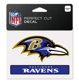 "WINCRAFT Baltimore Ravens 4.5"" x 5.75"" Perfect Cut Decals"
