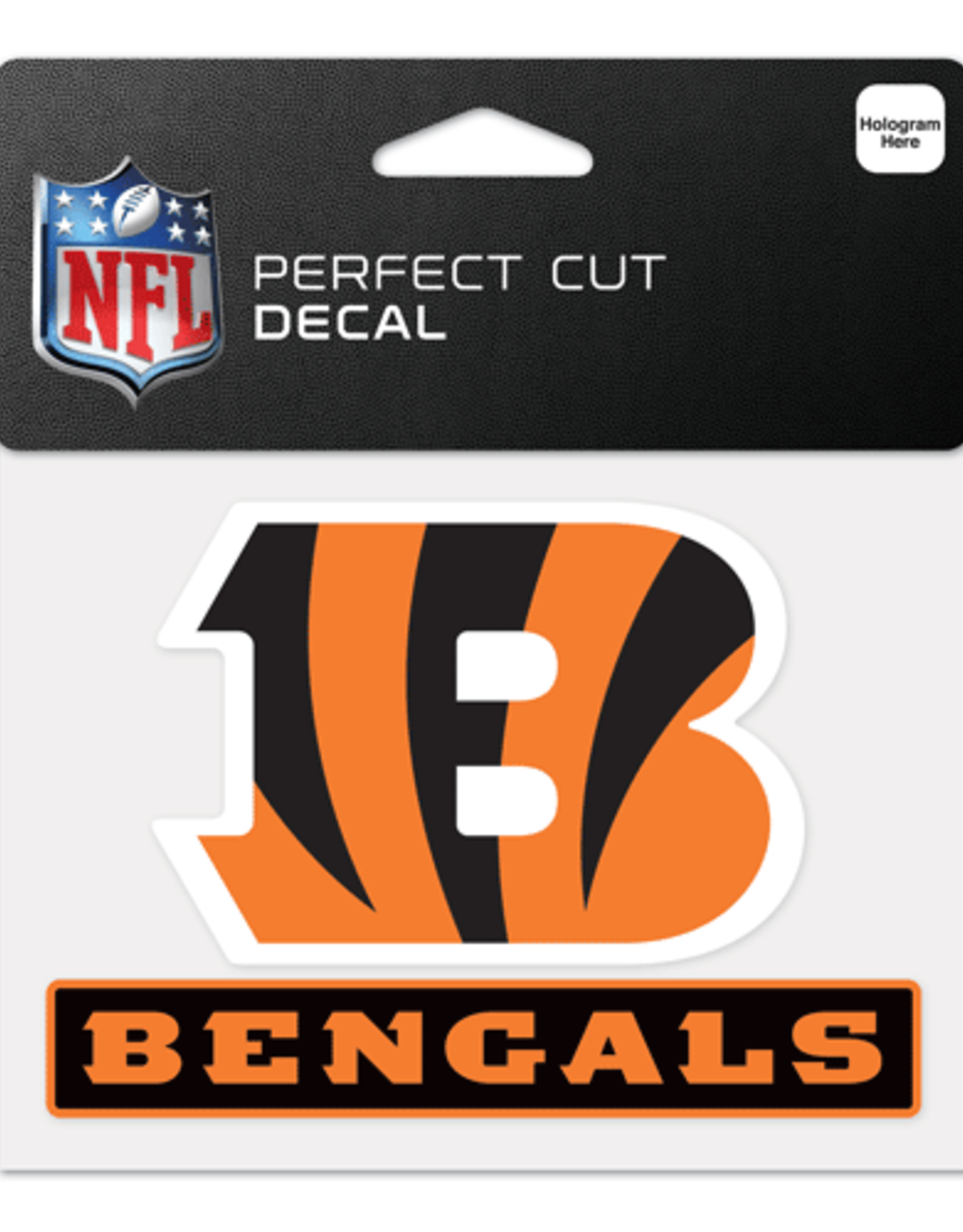 """WINCRAFT Cincinnati Bengals 4.5"""" x 5.75"""" Perfect Cut Decals"""