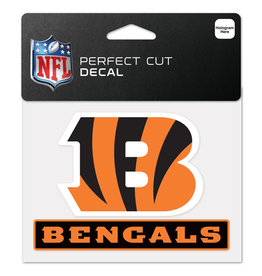 "WINCRAFT Cincinnati Bengals 4.5"" x 5.75"" Perfect Cut Decals"